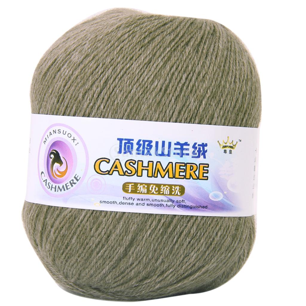 Cashmere Knitting Yarn : Free Shipping 1 Skein Ball Cashmere Knitting Weaving Wool Yarn - Olive