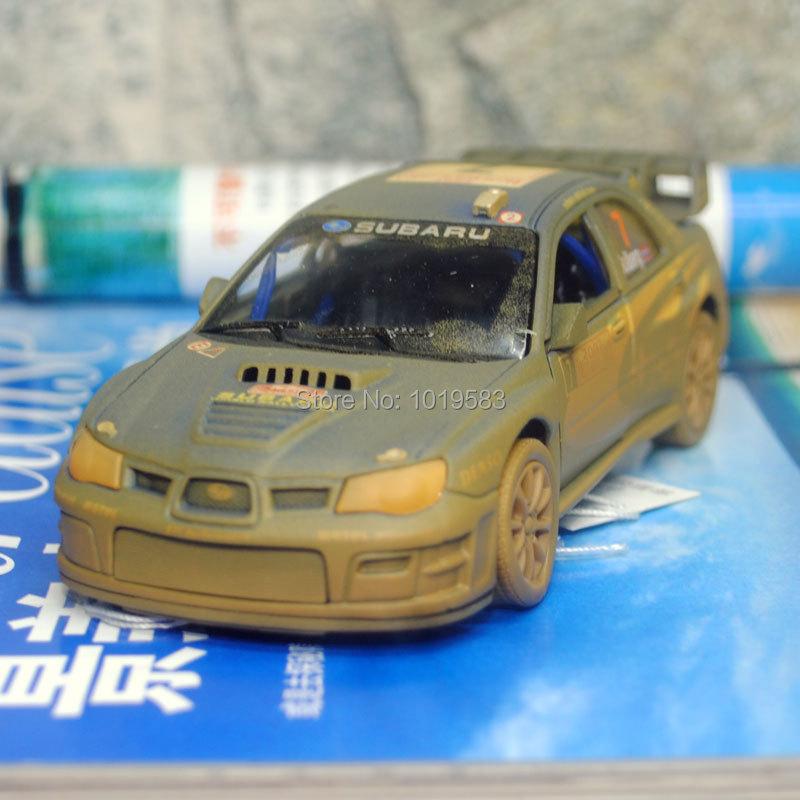 Brand New 1/36 Scale Car Model Toys Muddy Edition Subaru Impreza WRC 2007 Racing Car Diecast Metal Pull Back Car Model Toy(China (Mainland))