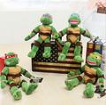 2014 TMNT high quality 40cm 4pcs lot the Teenage Mutant Ninja Turtles Plush Toys Movies TV