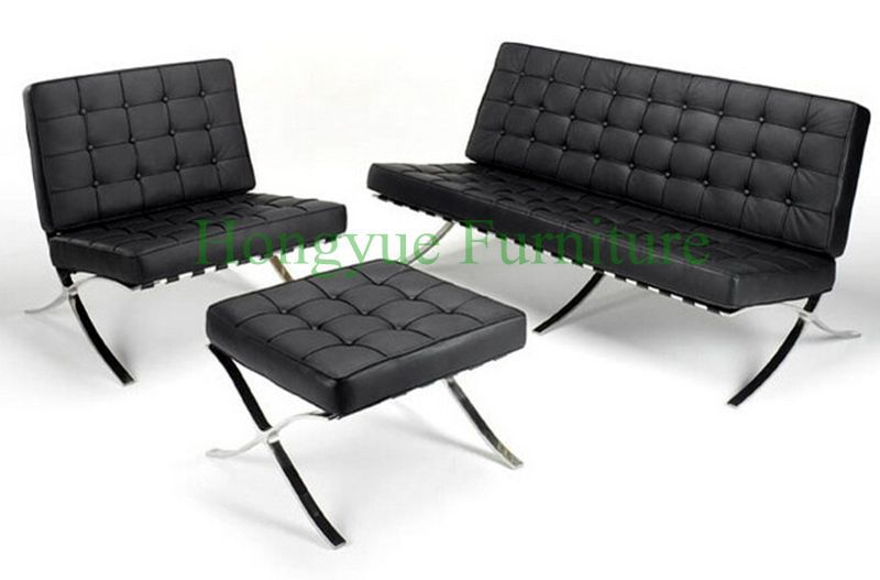 lounge leather barcelona chair for living room in living room chairs