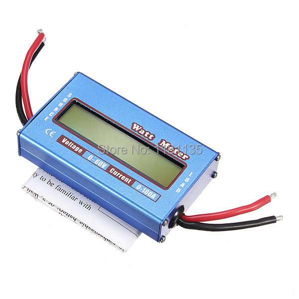 New Digital LCD For DC 60V/100A Balance Voltage RC Battery Power Analyzer Watt Meter Free Shipping(China (Mainland))