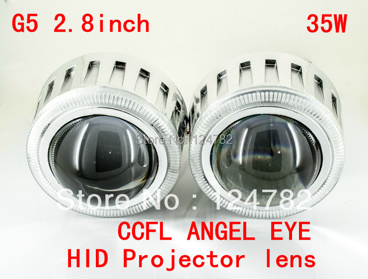 35W Projector Lens Headlight kit Slim Ballast 9004 9005 9006 9007 H1 H7 H4 H13 G5 2.8