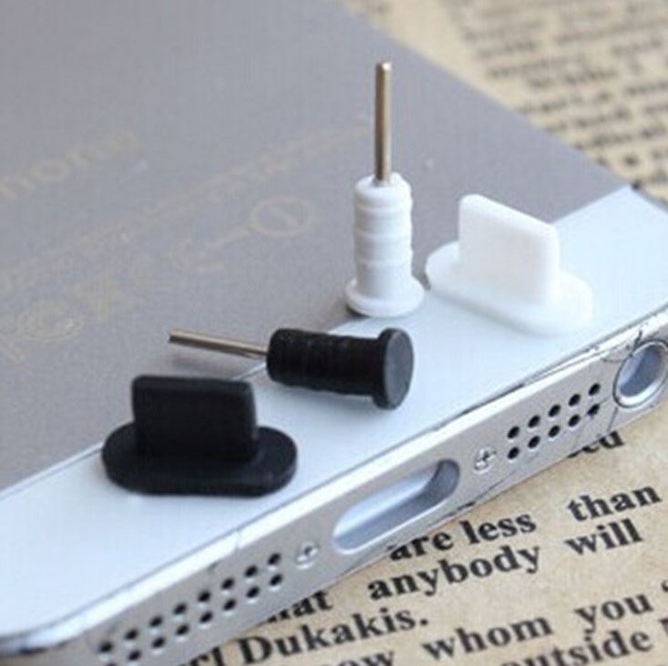 2pcs/set 3.5mm Headset Earphone 2pcs Jack Plug + 2pcs Charger USB Dock Anti Dust Plug Cap Cover for iphone5 Free Shipping(China (Mainland))