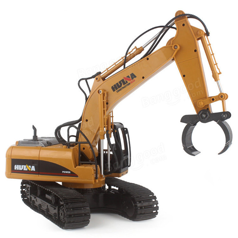 HuiNa 570 2.4G 1/12 RC Excavator 16 Channels Metal Charging RC Car Model Toys(China (Mainland))