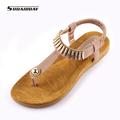 2017 New fashion Women Sandals Metal Buckle flip flops flat shoes Comfortable soft bottom Ladies Shoes