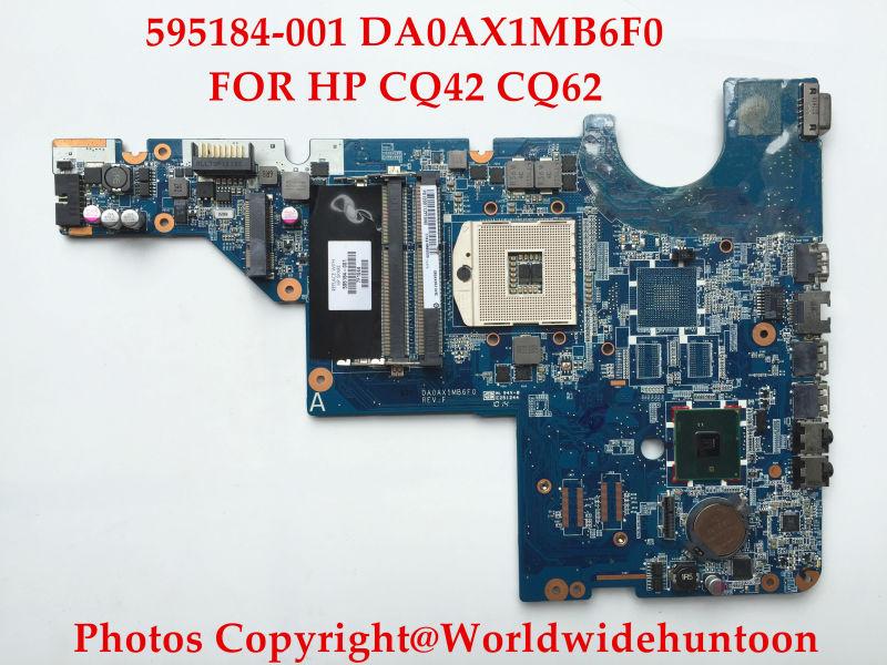 Original laptop motherboard Compaq Pavilion CQ62 CQ42 595184-001 DA0AX1MB6F0 HM55 PGA989 DDR3 Fully tested(China (Mainland))