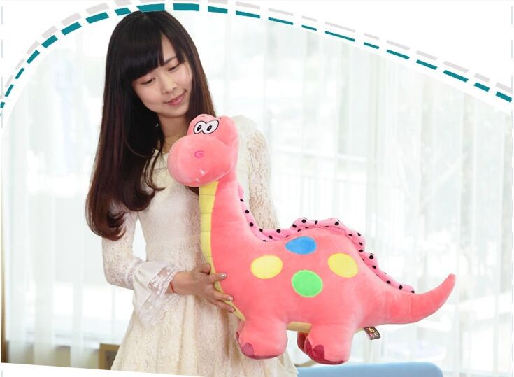 big lovely new plush dinosaur toy cartoon spots pink dinosaurs doll gift about 70cm(China (Mainland))