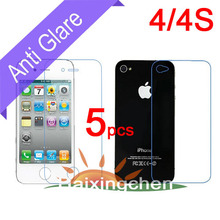 For Apple iphone 4 4G 4S Matte Anti-glare Screen Protector Guard Cover Film (5pcs front + 5pcs back + 5pcs cloth)