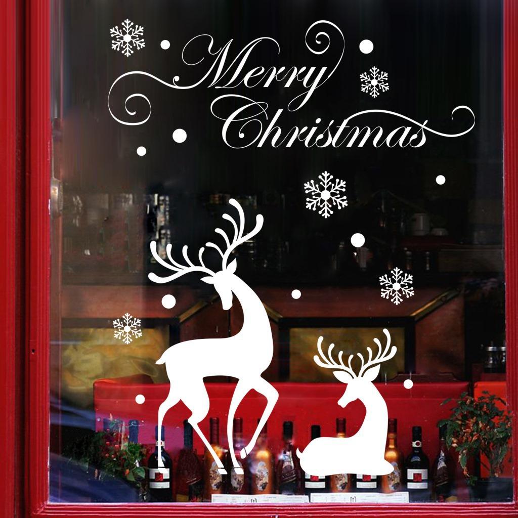 Popular white reindeer decorations buy cheap white for Vinyl window designs ltd complaints