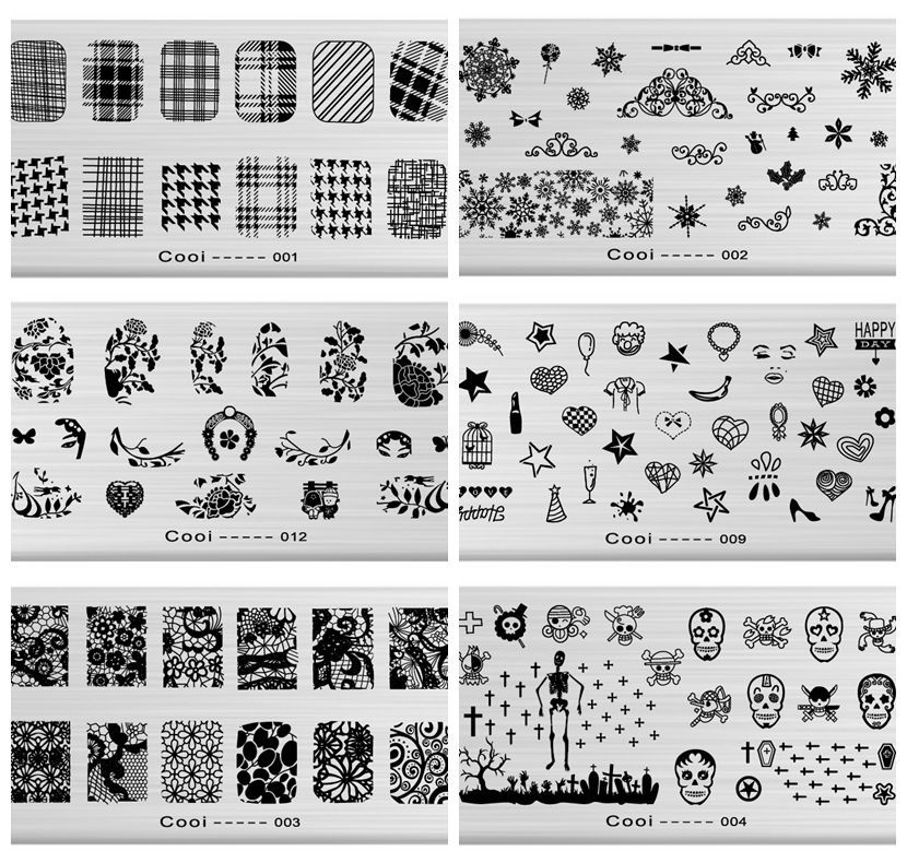Гаджет  Nail Stamping Plates For Nail Art Templates New Arrival Animal Plant Nail Konad Manicure Steel Stamp Stencil Stamper Tools None Красота и здоровье