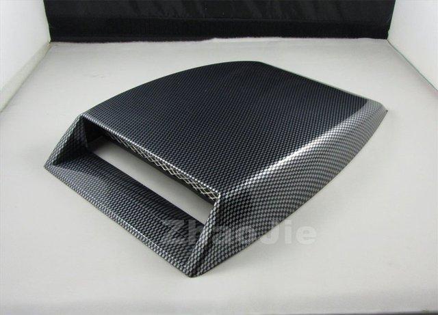 Mini car Air Flow Intake hood Scoop Vent Bonnet Cover decorative fake carbon fiber surface