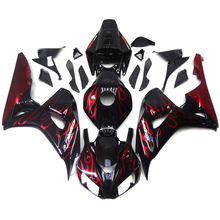 Buy Complete Fairings For Honda CBR 1000 RR 2006 2007 06 07 Injection ABS Motorcycle Fairing Kit Bodywork Cowling Black Red Flames for $432.39 in AliExpress store