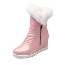 Airfour de Mitad de la pantorrilla Botas de Mujer Zapatos de Invierno zapatos de Tacón Alto Botas de Nieve Blanco de Gran Tamaño 34-43 Cremalleras Botas de Plataforma Punta redonda(China (Mainland))