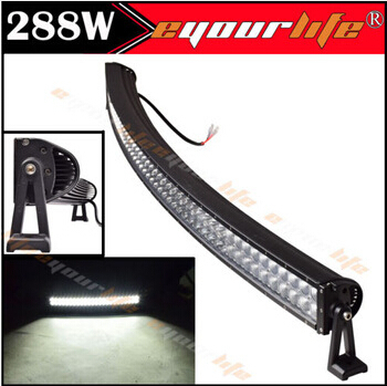 Eyourlife 288W 50/52INCH 17280LM Alloy Combo Curved LED Bar Driving Light Lamp Off Road 4WD 4X4 Boat UTE SUV 12V 24V 240W 300W(China (Mainland))