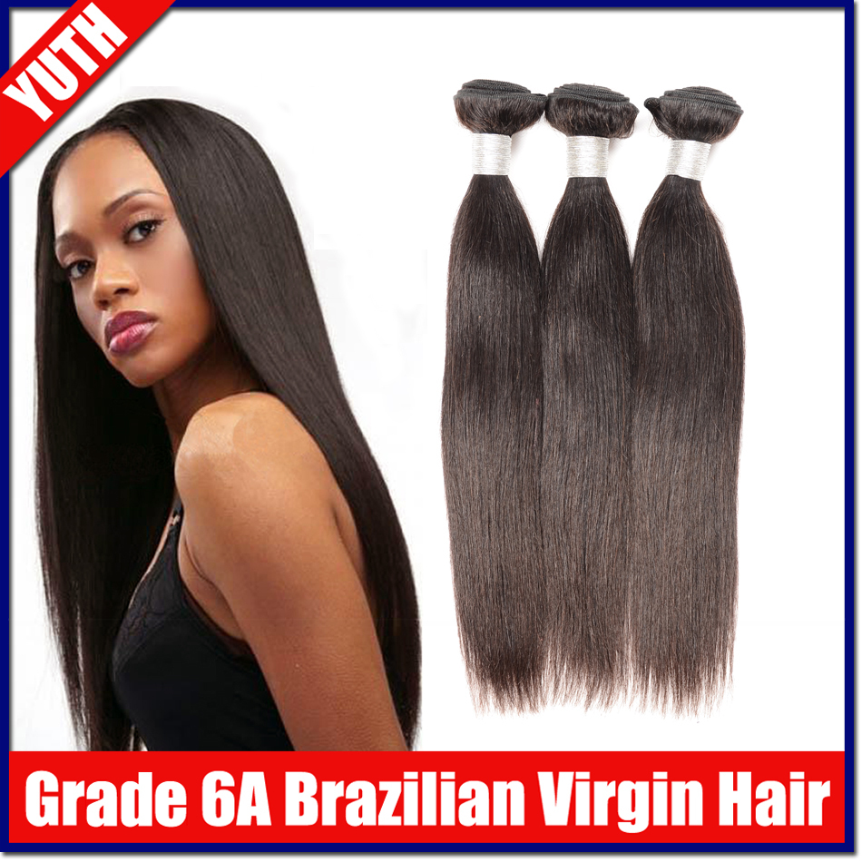 100g*3pcs Brazilian Virgin Hair Straight 6A Unprocessed Human Hair Weave Natural Black Hair Extension Yuth hair products<br><br>Aliexpress