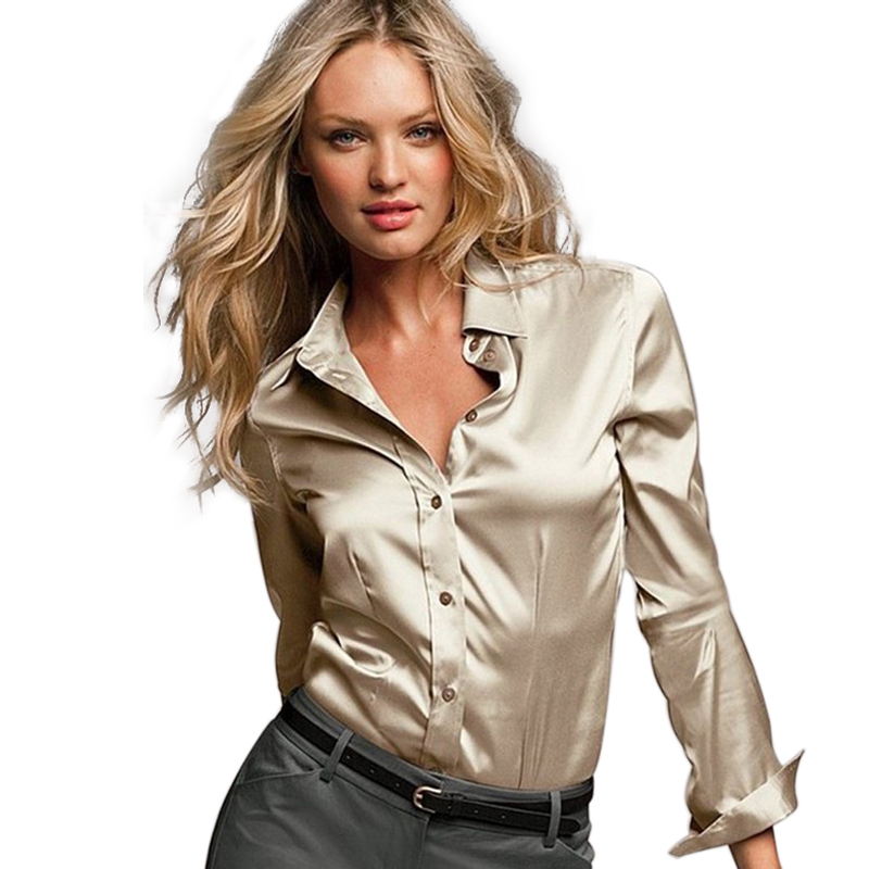 Ladies Silk Blouses Shirts 95