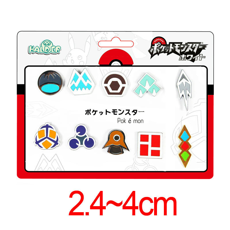 Anime Pokemon Badges Pokemon Gym Badges Gen 4 Sinnoh SET of 10 League Badges Metal Pins Brooches Cosplay Ash Ketchum Collection<br><br>Aliexpress