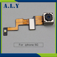 For iPhone 5 Replacement With Flash Back Camera Modules Flex Cable for iPhone 5G Rear Camera Mobile Phone Flex, Free Shipping