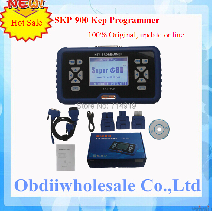 DHL free shipping SuperOBD SKP-900 key programmer one year warranty offer skp900 key programmer cost-effective to the market(China (Mainland))