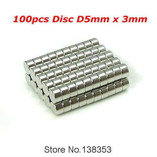 Гаджет  100pcs Bulk Neodymium Jewelry Magnets Sheets Disc Dia 5mm x 3mm N35 Super Strong Rare Earth NdFeB Permanent Magnet None Строительство и Недвижимость