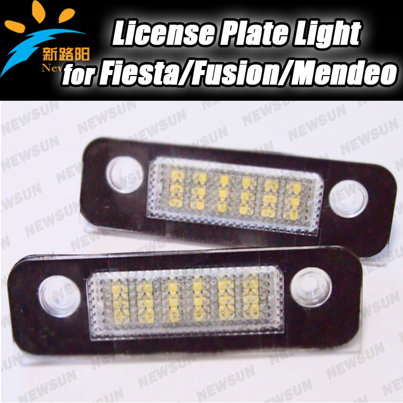 2013 New design xenon White OEM Replace LED car Number License Plate Light Lamp for Ford Fiesta Fusion Mendeo MK2 1332916x2(China (Mainland))