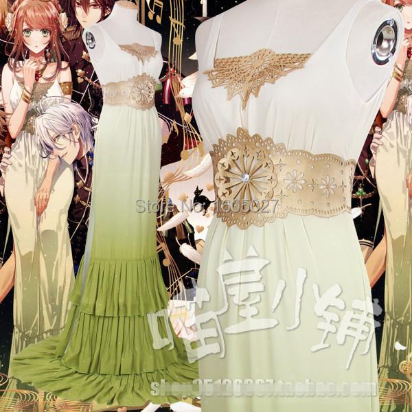 Amnesia World Uniforms Cosplay Costume Anime Princess Party Full Dress Wedding Long Dress Free ShippingОдежда и ак�е��уары<br><br><br>Aliexpress