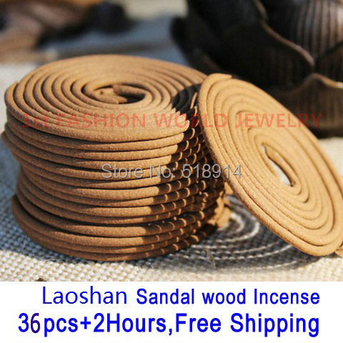 Laoshan Sandalwood Incense Coil,Natural Sandal Wood Sandalwood Coil Incense 36pcs 2H.Therapy Incense Scent Made In Taiwan(China (Mainland))