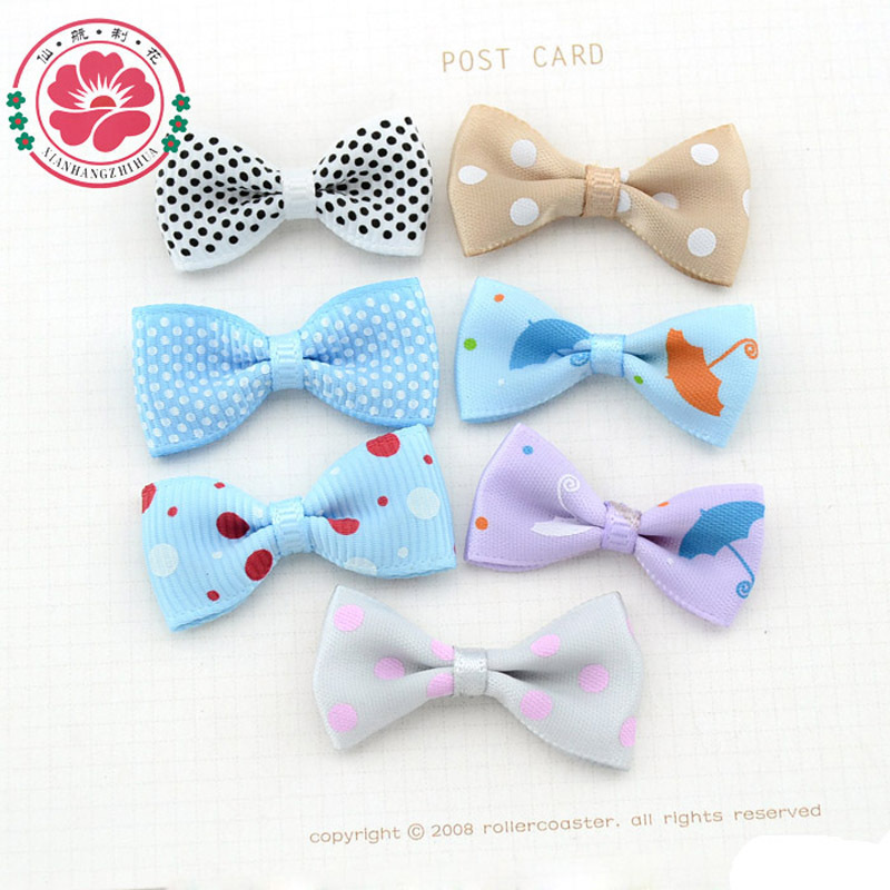 100pcs/pack Handmade DIY Fancy Pattern Satin Craft Ribbon Bow Tie Embellishment Scrapbooking Children Hair Accessory CB212(China (Mainland))