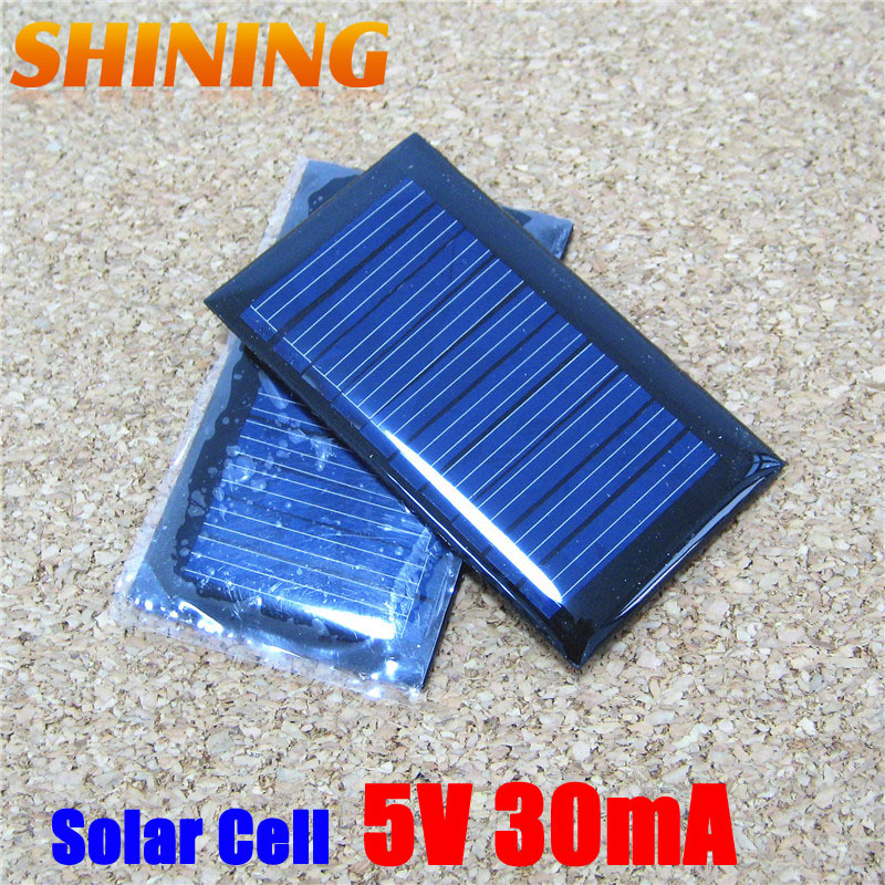 2Pcs/Lot 5V 30mA Polycrystalline Solar Panel Small Mini Solar cell PV Module Solar Cell Panel Battery Charger For DIY & Study(China (Mainland))
