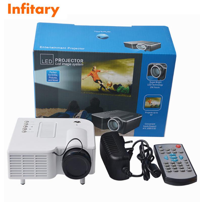hot UC28 Mini LED Digital Video Game Projectors Multimedia player Input AV VGA USB SD HDMI proyector Built-in Speaker data show(China (Mainland))