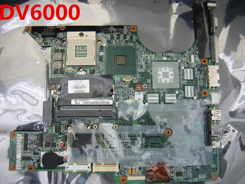 For HP DV6000 Laptop motherboard 434726-001 /434724-001 Integration Tested Free shipping(China (Mainland))