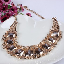 2014 New Arrival Vintage Gold Sliver Jewlery Luxurious Crytal Necklace Earrings Wholesale For Lady Jewelry TL9333