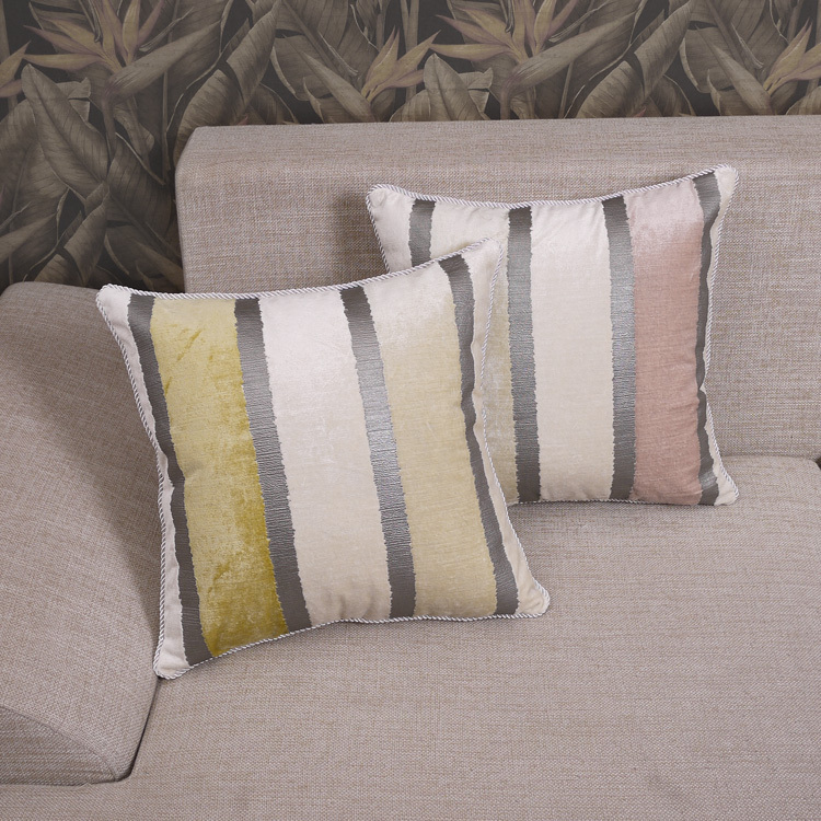 NEW Ikea Decoration Cushion Cover Embroidered Cover Pillow Square Pillow Stripe Cushion Cover Cushions Home Decor Free Shipping(China (Mainland))