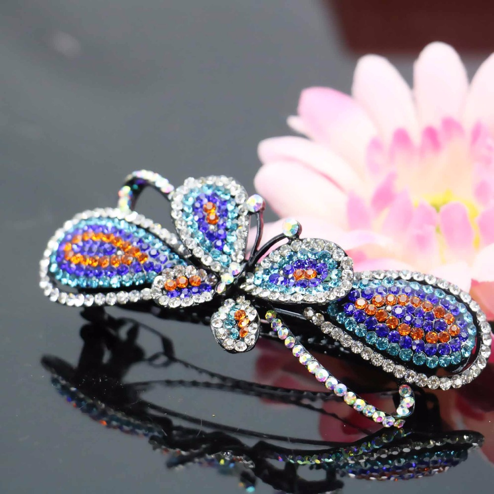27x85mm Wedding Headdress Butterfly Gifts Head Bands Headband Crystal Hair Accessory Inlaid Rhinestone Jewelry Making(China (Mainland))
