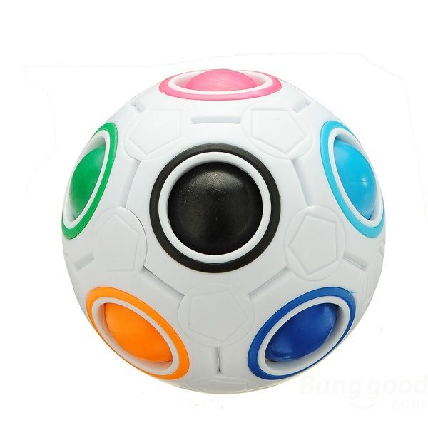 Verydeal White Rainbow Magic Ball Plastic Cube Twist Puzzle Boy Toys(China (Mainland))