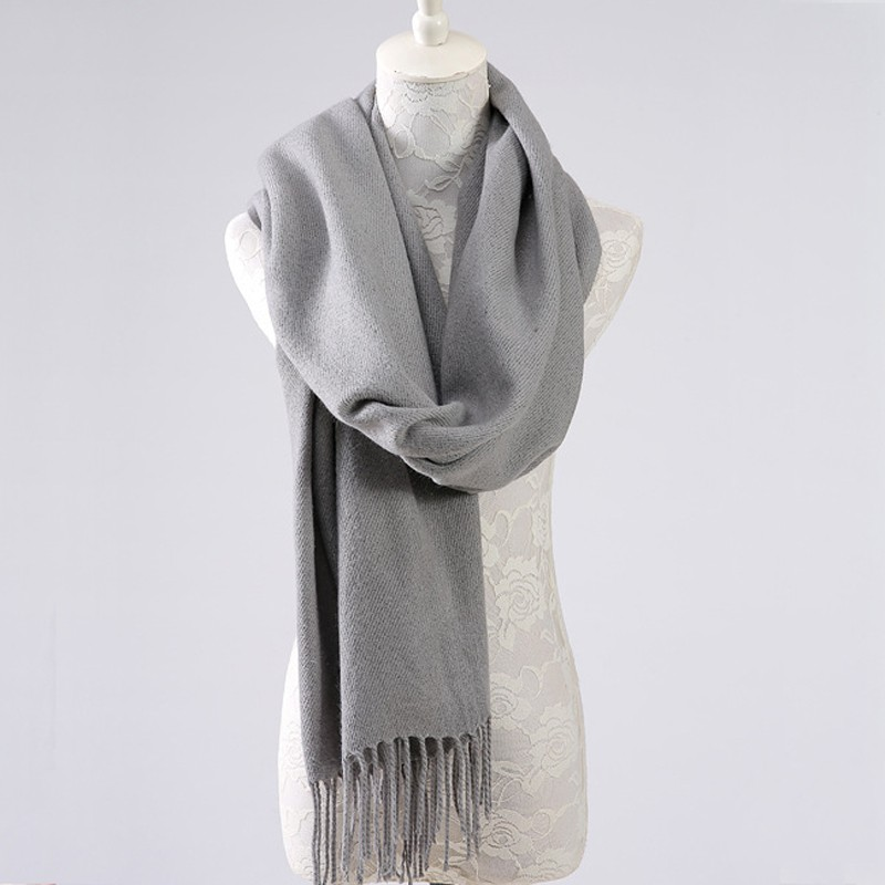 Luna&Dolphin 2017 Fashion Cashmere Scarf Classic Filamentary Silver Winter Warm Female Soft Scarves Big Tippet Tassels Scarves