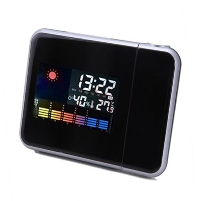 Digital Weather LCD Screen Wall Projection Snooze Alarm Clock Color LED Display(China (Mainland))