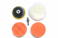 """Free Shipping 5"""" 125mm car wash Car Polishing Pad set Wet Foam Buffing Pads for Car Styling with Drill Adaptor M14(China (Mainland))"""