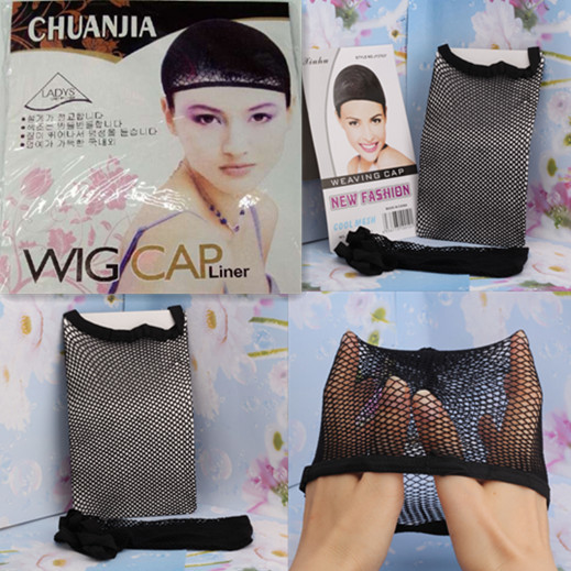 New Hair Accessories Elastic Great Density Stretchable Elastic Fishnet Wig Cap Hairnet Snood Mesh Net Weaving Hairnet Headband(China (Mainland))