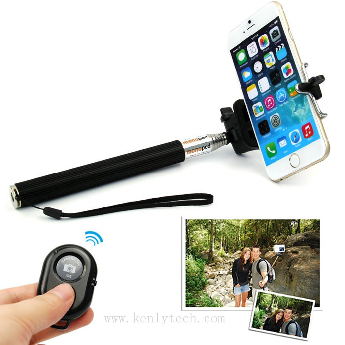 bluetooth erweiterbar selfie stick handheld einbeinstativ f r apple iphone 4 5 s 6 sowie. Black Bedroom Furniture Sets. Home Design Ideas