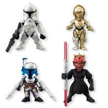 4pcs/set Star Wars White Knight C3PO Darth Vader Stormtrooper Darth Maul PVC Action Figure Model Toys