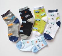 Baby socks car and star print cotton character casual  baby boy sock children socks(China (Mainland))