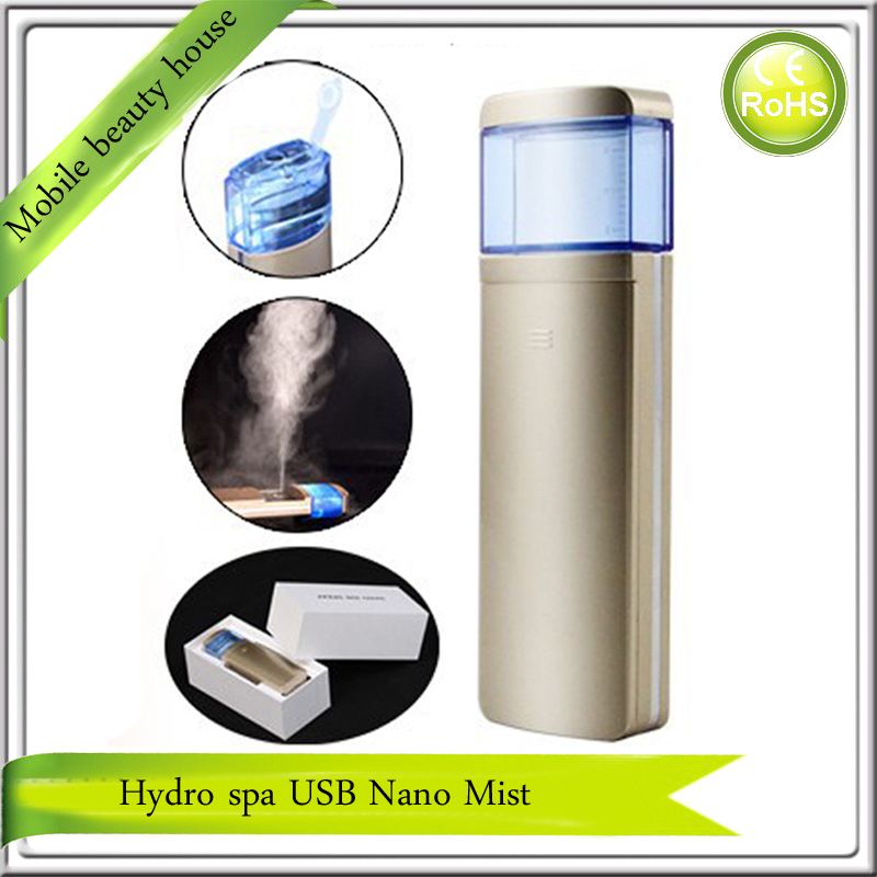 2015 Newest Hydra Spa Ion Nano Water Facial Beauty Handy Mist Spray Face Steamer Gold Color - Mobile House 1988 store