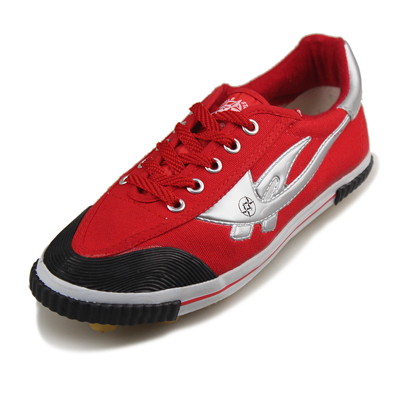 Qingdao double star football shoes men sistance star canvas shoes football shoes red cow muscle outsole shoes(China (Mainland))