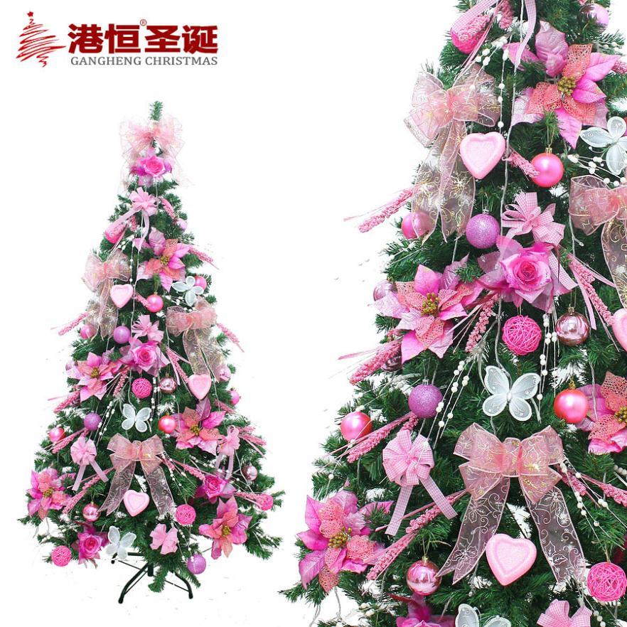 Christmas decorations upscale european style pink - Arboles de navidad rosa ...