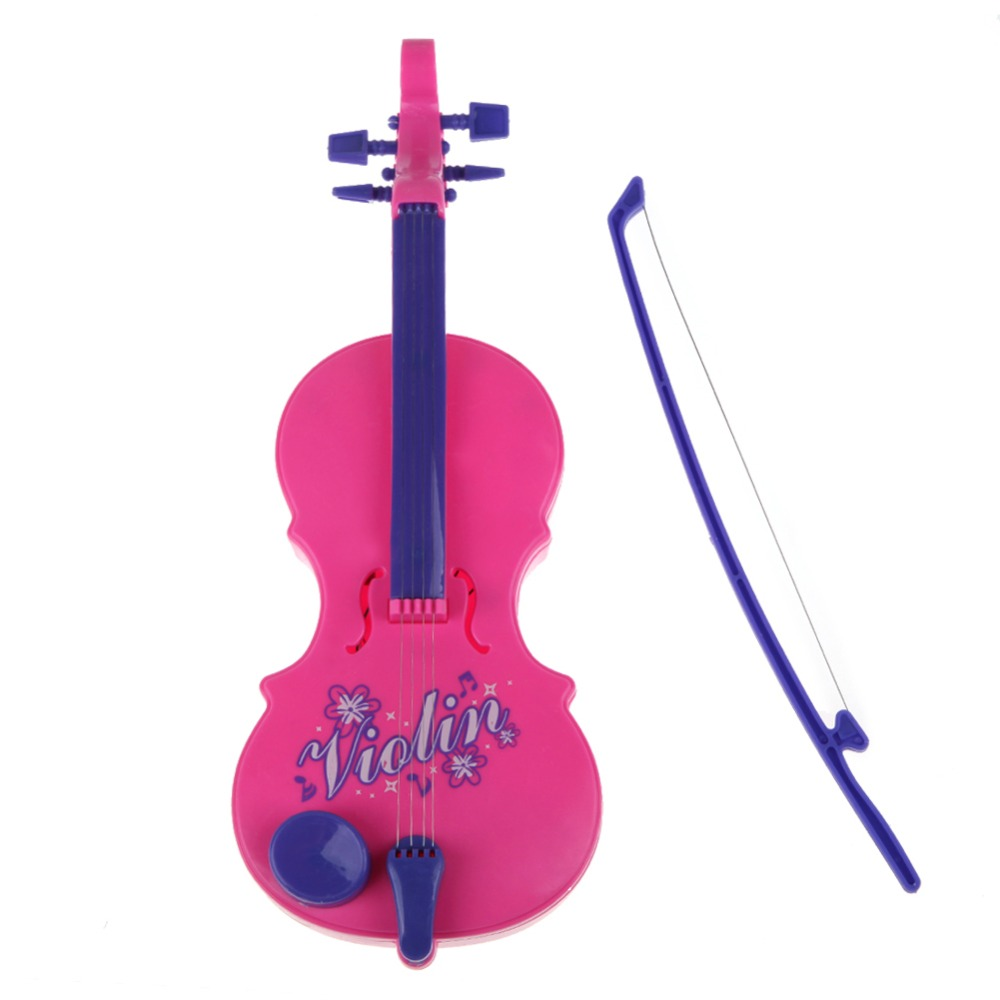 Mini Cute Violin Bow Childrens Electronic Musical String Educational Instrument Violin Toy K5BO(China (Mainland))