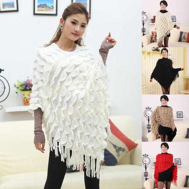 2015 Hot Sale Women Knitted Wrap Autumn And Winter Poncho Scarf Coat(China (Mainland))