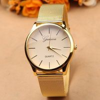 Gold Watch Full Stainless Steel Woman Fashion Dress Watches New Brand Name Geneva Quartz Watch Best Quality G-8072 Free Shipping