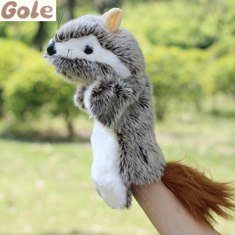 Squirrel Hand Puppet For Kids Finger Puppet Nursery Educational Toys Jouet Poupee Petite Sirene Learning Education Plush Dolls(China (Mainland))