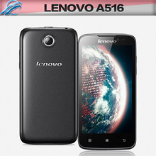 Original Lenovo A516 Cell Phones 4.5 inch MTK6572 Dual Core 4GB Android Mobile Phone 5.0MP GPS WCDMA Smartphone Free Shipping
